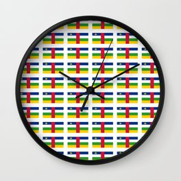 Flag of Central African Republic,car, Bêafrîka,centrafrique,Central African, centrafricain,Oubangui- Wall Clock