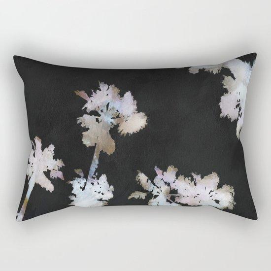 Tropical Palms On Black Background Rectangular Pillow
