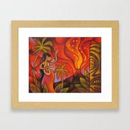 Lava Light Dance Framed Art Print