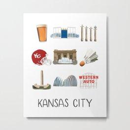 Kansas City, Missouri Metal Print
