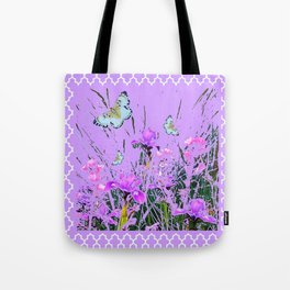 LILAC PURPLE MODERN FLOWERS ABSTRACT Tote Bag
