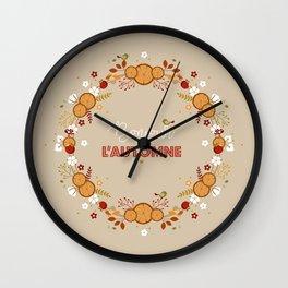 Bonjour l'automne Wall Clock