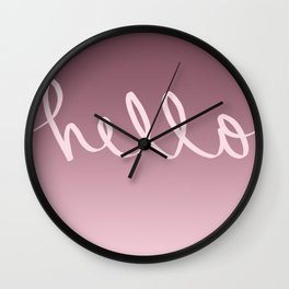 Hello Caligraphy Wall Clock