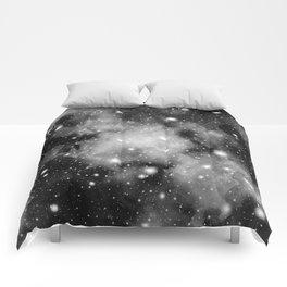 Black & White Galaxy Nebula Dream #1 #decor #art #society6 Comforters