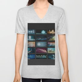 Multimedia Content Streaming and Digital Entertainment Video Concept Unisex V-Neck