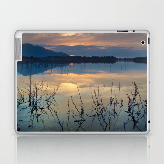 Clouds on the pink water Laptop & iPad Skin