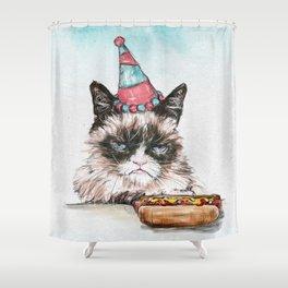 Hot Dog and Tardar Sauce Shower Curtain
