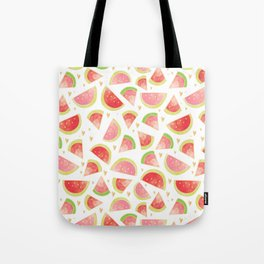 Pink & Gold Watermelon Slices Tote Bag
