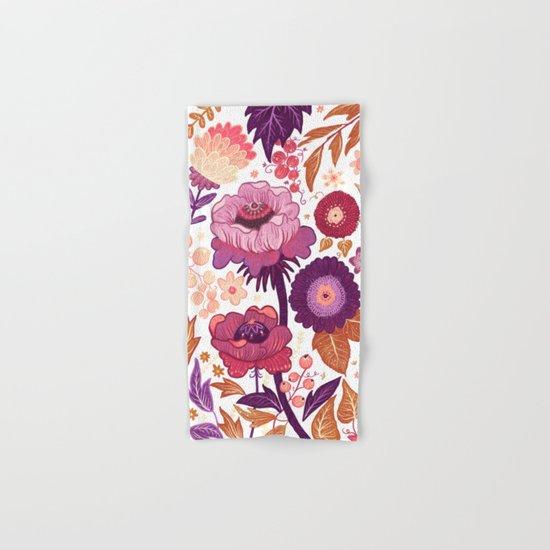 Purple Flowers Hand & Bath Towel