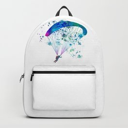 paratrooper parachute in watercolor Backpack