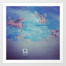 pigs can fly Art Print
