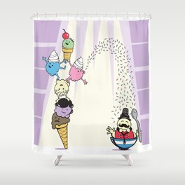 The Amazing Scoops! Shower Curtain