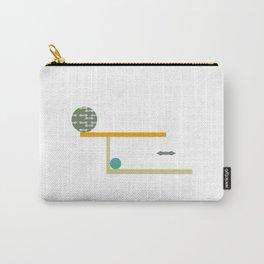 geometría pajarita-pluma Carry-All Pouch