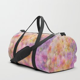 Sophisticated Painterly Floral Abstract Duffle Bag