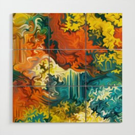 Mineral Series - Duftite Wood Wall Art