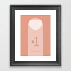 Number 1. Framed Art Print