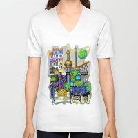 vienna V-neck T-shirts featuring Vienna  by Aleksandra Jevtovic