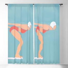 Pool Diver Blackout Curtain