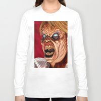 ed sheeran Long Sleeve T-shirts featuring Evil Ed by Norm Gaudette
