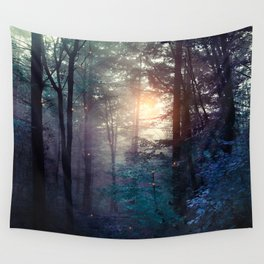 A walk in the forest Wall Tapestry
