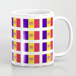 flag of andorra- andorre,andorra,andorran,catalan,pyrenees,pyrenean Coffee Mug