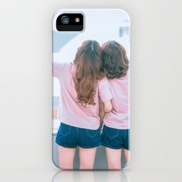 Young Lesbian Couple iPhone Case