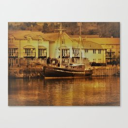There's a Boat Coming in. Canvas Print