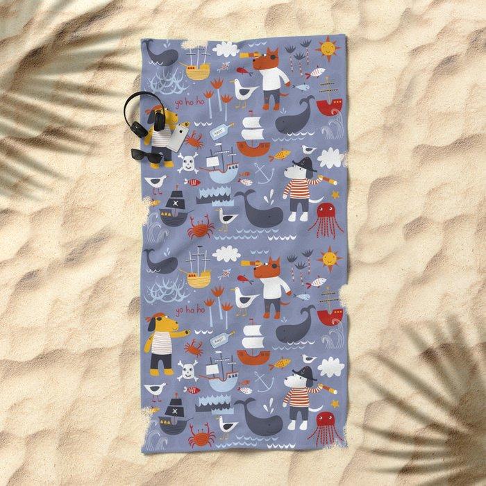 Pirates! Beach Towel