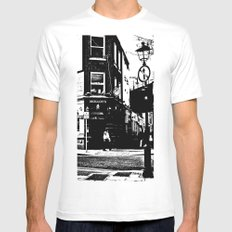 Beat on the Street MEDIUM White Mens Fitted Tee
