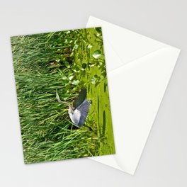 Great Blue Heron Takes Flight Stationery Cards