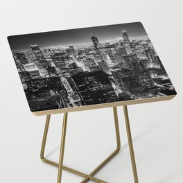Chicago Skyline at Night Side Table