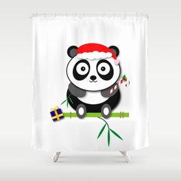 Holiday Panda Shower Curtain