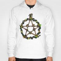 pentagram Hoodies featuring PENTAGRAM GARLAND by Dianah B