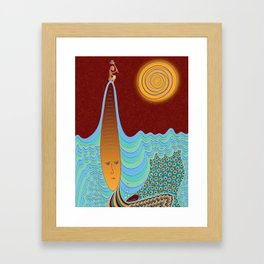 The Young Man And The Sea Framed Art Print