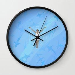 Crazy Shark Lady  Wall Clock