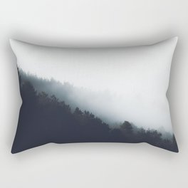 Fog over forest diagonal layers Rectangular Pillow
