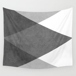black and white triangles Wall Tapestry