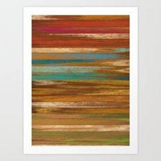 wood panel multicolor Art Print
