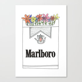 Smoking is pretty Canvas Print