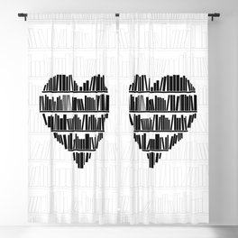 Book Lover II Blackout Curtain