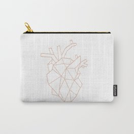 rose geometric heart Carry-All Pouch