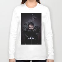 cigarettes Long Sleeve T-shirts featuring Black Coffee and Cigarettes  by Karah Robinson- Art