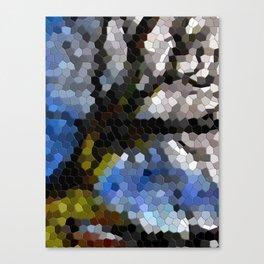Tree mosaic tile Canvas Print