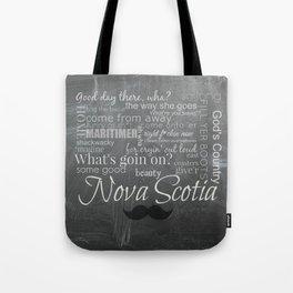 Nova Scotia slang - mustache edition Tote Bag