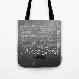 Nova Scotia slang - mustache edition Tote Bag