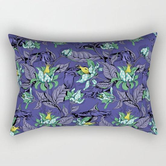 The Sea Garden - deep blue Rectangular Pillow