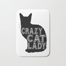 crazy cat - Funny Cat Saying Bath Mat