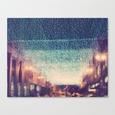 Starry Night. downtown Los Angeles at night photograph Canvas Print