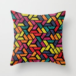 Seamless Colorful Geometric Pattern XI Throw Pillow
