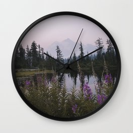 Wildflowers at Picture Lake Wall Clock